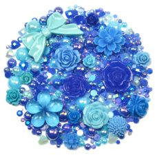 'OCEAN BLUES' Theme Rhinestone and Cabochon Mix